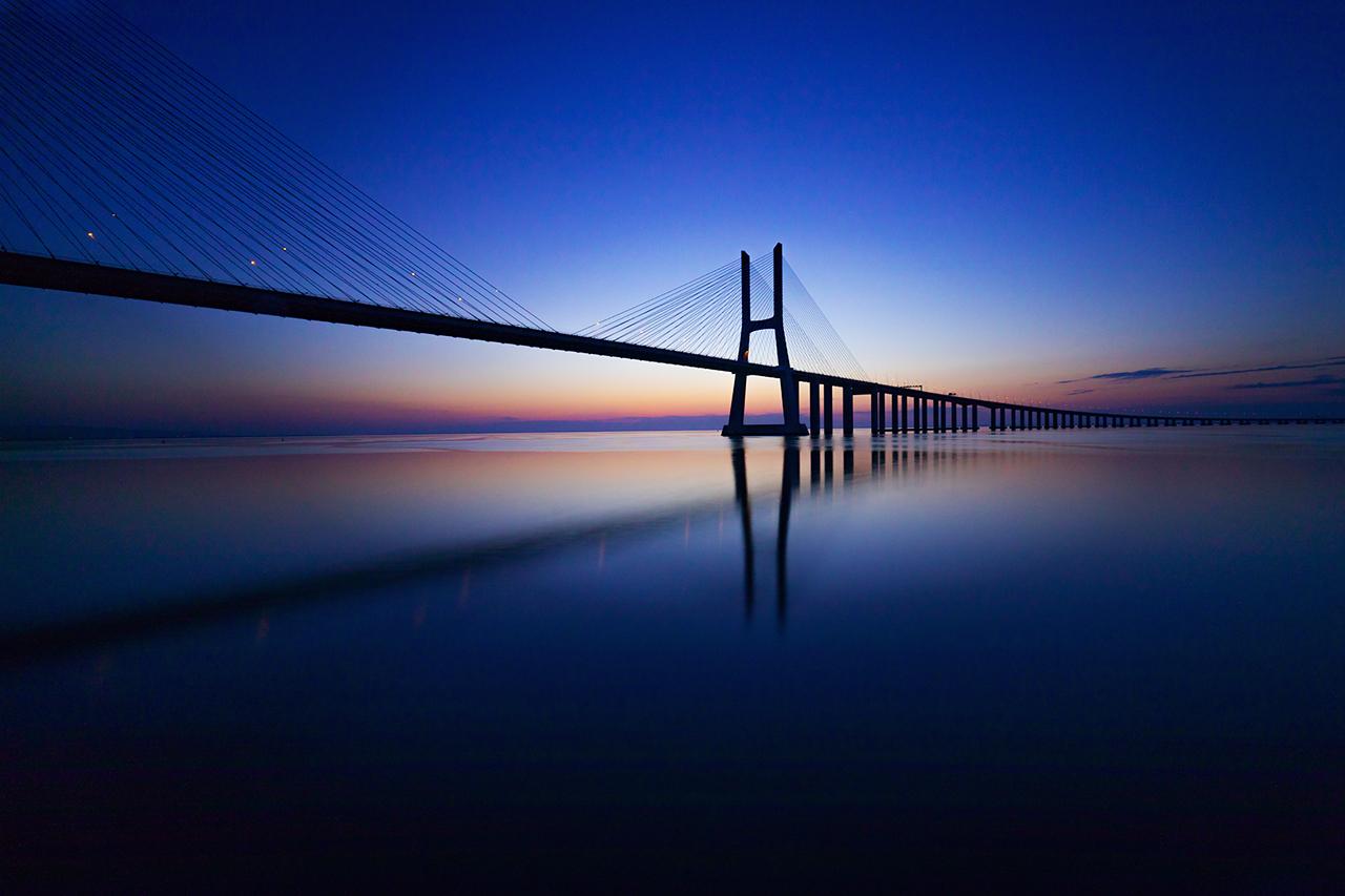 Brücke Vasco de Gama in Lissabon