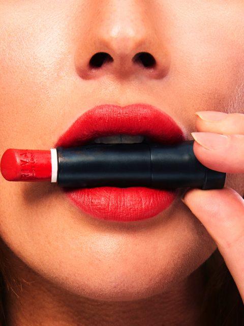 MakeUp Closeup für eine Lippenstift Kampagne